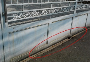 Cổng sắt nhà thờ Tân Chí Linh Q3